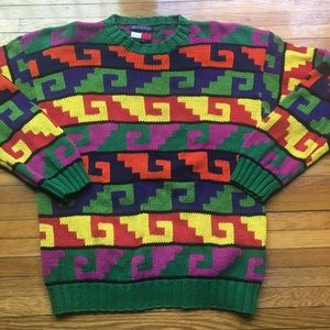 Vintage 90s Tommy Hilfiger Knit Sweater L